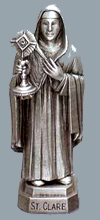 St Claire Pewter Statue