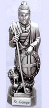 St George Pewter Statue