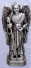 St Raphael Pewter Statue