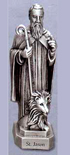 St Jason Pewter Statue