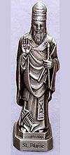 St Blaise Pewter Statue