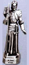 St Joan of Arc Pewter Statue