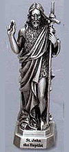 St John the Baptist Pewter Statue