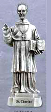 St Charles Pewter Statue
