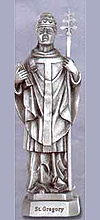 St Gregory Pewter Statue