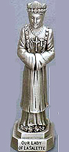 Our Lady of Lasalette Pewter Statue