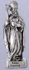 Small St Patrick Pewter Statue