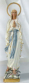 Our Lady of Lourdes Pearlized Statue - 16 Inch