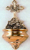 Brass Angels Holy Water Font