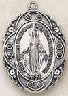 .875 Inch Blessed Virgin Miraculous Medal