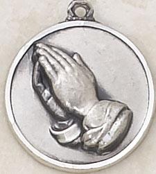 Praying hands necklace serenity prayer pendant catholic pendant praying hands pendant with serenity prayer aloadofball Choice Image