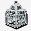 Sacred Heart 4-Way Medal Sterling Silver