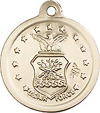 Air Force & St. Christopher Sterling Silver Medal on Chain