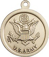 .75 Inch Army St Christopher Medal - Sterling Silver