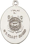 Oval Coast Guard and St. Christopher Medal