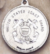 Round Coast Guard and St. Christopher Medal