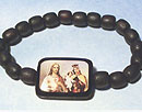 Sacred Heart & Our Lady of Mt Carmel Bracelet