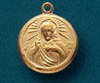 Scapular Gold Over Sterling Round Medal