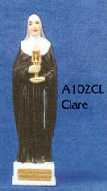 St. Clare Adhesive Magnetic Car Statue