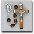 Maroon Tear Shape Genuine Cocoa Beads Rosary