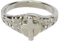 Small Sterling Silver Cross Ring