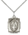 Vintage Inspired Square Miraculous Medal