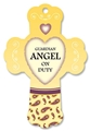 Guardian Angel On Duty - Vanilla Heart Fresheners Cross