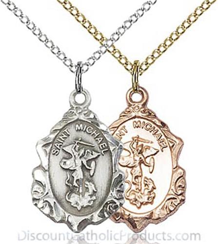 Classic st michael the archangel necklace aloadofball Images