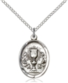 Sterling Silver Oval Chalice Communion Pendant