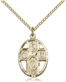 Confirmation Four-Way Gold Filled Pendant