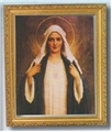Immaculate Heart Print with Antique Gold Frame