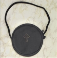 Black Leather Stringed Burse for size 3 or 4 Pyx