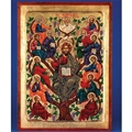 Jesus Tree of Life Icon with Apostles in Gold Leaf