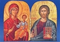 Christ Pantocrator & Virgin Mary the Healing Printed Foil Diptych