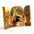 Triptych Gold Printed Nativity Icon