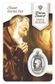 St. Pio - Pain Healing Wallet card with Medal