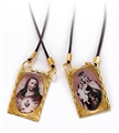 Metal Scapular on Cord -.75 Inches tall