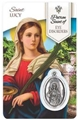 St. Lucy - Eyes Healing Wallet card with Medal
