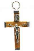 1.25 Inch Natural Wood Crucifix