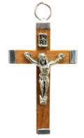 2 Inch natural Wood Crucifix