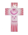 8 Inch Pink Wood Baptism Cross