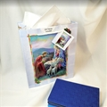 Blue Holy Family Christmas Gift Bag - Large