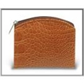 Croc Skin Patterned Rosary Case Brown