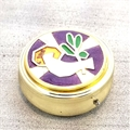 Purple Enameled White Dove Pyx