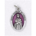 Pink Enamel St. Therese of Lisieux Medal