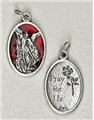 Red Enamel St. Michael Medal