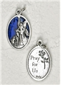 Blue Enamel Guardian Angel Medal