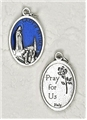 Blue Enamel Our Lady of Fatima Medal