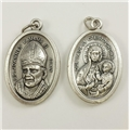 St. Pope John Paul II Inexpensive Oxidized Medal