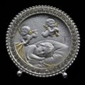 Crystal and Sterling Silver Baby with Angels Plaque